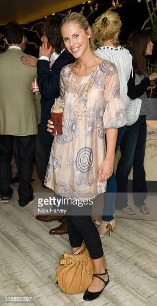 Petrina Khashoggi attend the Degrees of Freedom Launch at Nobu on July 12, 2007 in London, England.