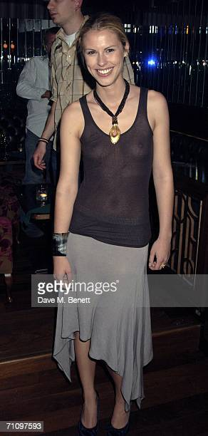 Petrina Khashoggi attends a party thrown to welcome actress and singer Juliette Lewis to London at the Volstead Club on May 31 2006 London England