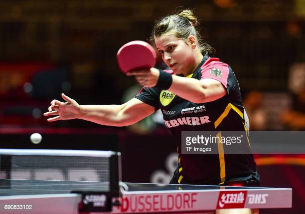 Petrissa Solja of Germany in action during the Table Tennis World Championship at Messe Duesseldorf on May 30, 2017 in Dusseldorf, Germany.