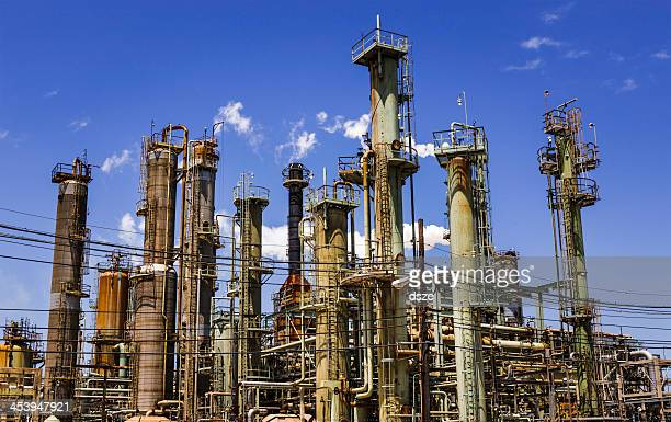 petro chemical oil processing refinery plant, Texas City industrial skyline
