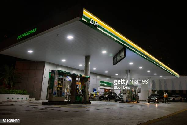A Petrobras Distribuidora SA gas station stands illuminated at night in Sao Paulo Brazil on Monday Dec 11 2017 Petroleo Brasileiro SA  is getting...