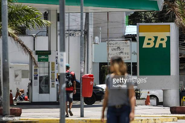 Petrobras Fuel Station in Recife northeastern Brazil on 12 November 2016 Executives of Brazilian state oil company Petrobras and Bolivian counterpart...