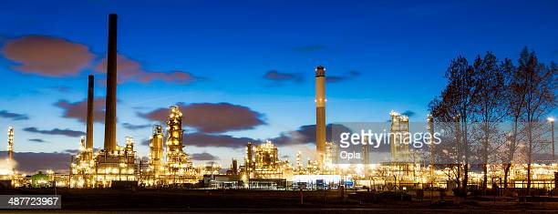 Petrochemical industry by night