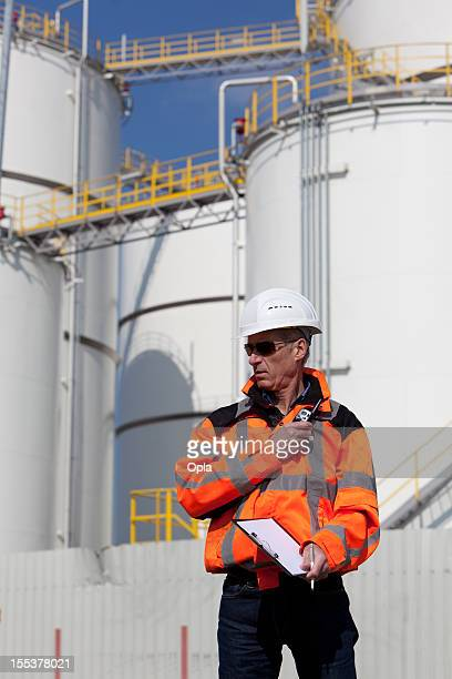 petrochemical inspector - fuel storage tank stock photos and pictures