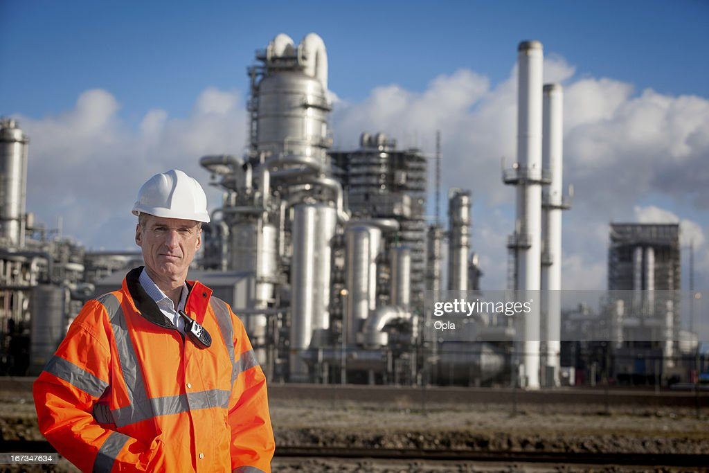 Petrochemical inspector : Stock Photo