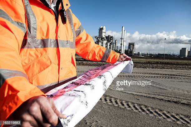 Petrochemical inspector with drawing