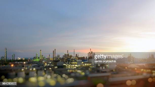 petrochemical large oil-refinery plant background for your work . - flammable stock photos and pictures