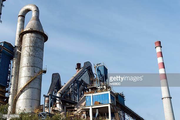 Usine pétrochimique usine Cheminée d'usine