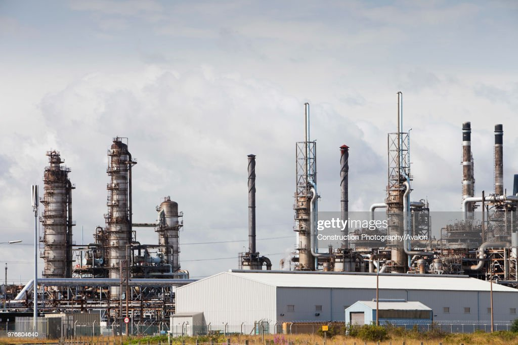 Petrochemical plant on Teeside, North East, UK  News Photo