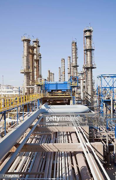 petrochemical plant - gas refinery stock photos and pictures