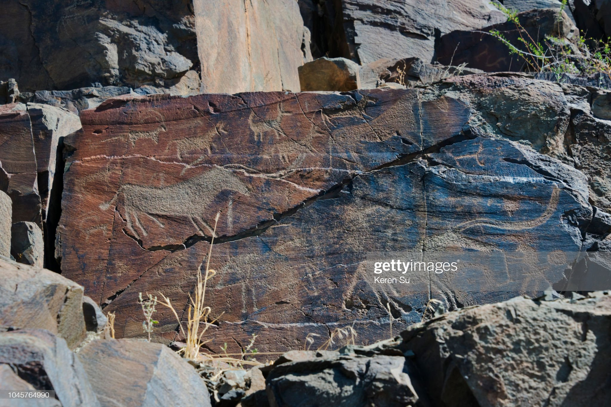Petroglyph in Tamgaly, UNESCO World Heritage site, Kazakhstan : Photo