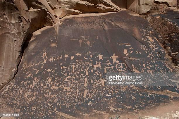 Petroglyphs at Newspaper Rock State Historic Monument, Utah, USA