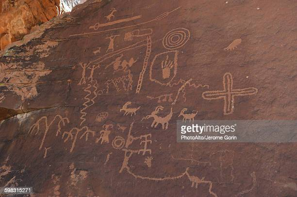 Petroglyphs in Valley of Fire State Park, Nevada, USA
