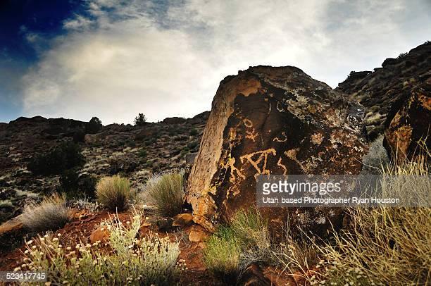Petroglyphs near Shivwits Band of Paiutes Land