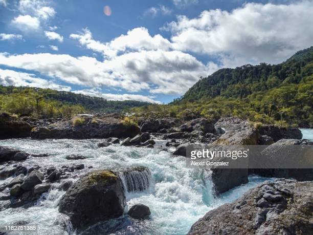 petrohue falls in southern chile - south stock pictures, royalty-free photos & images