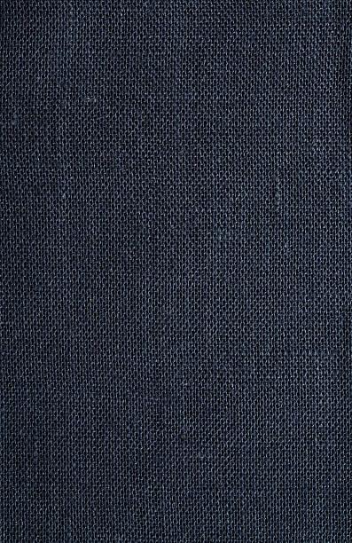 A Petrol Blue Hessian Tablecloth Wall Art