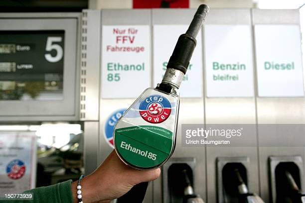 Petrol pump of a ethyl alcohol petrol station