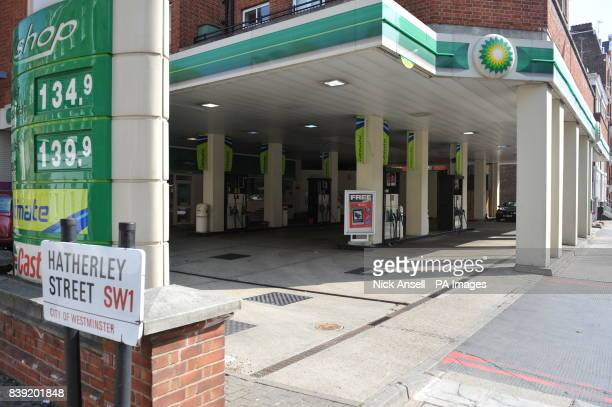 A BP petrol station on Vauxhall Bridge Road London the following day after the Budget 2011