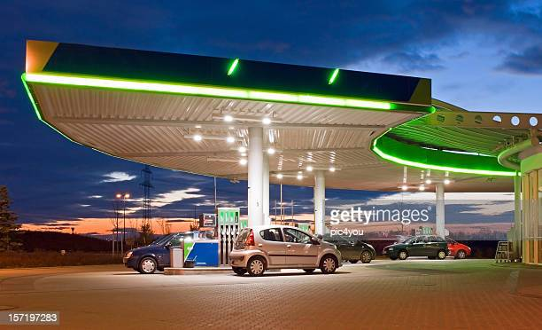 petrol station - gas station stock pictures, royalty-free photos & images