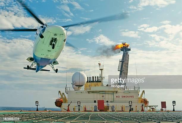 petroleum offshore platform - landing gear stock photos and pictures