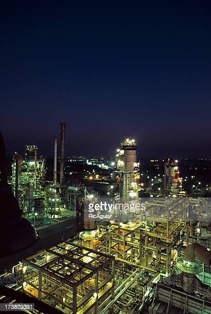 petroleum - gas refinery stock photos and pictures