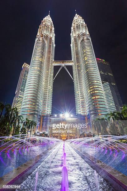 petronas tower, kuala lumpur, malaysia - petronas towers stock pictures, royalty-free photos & images