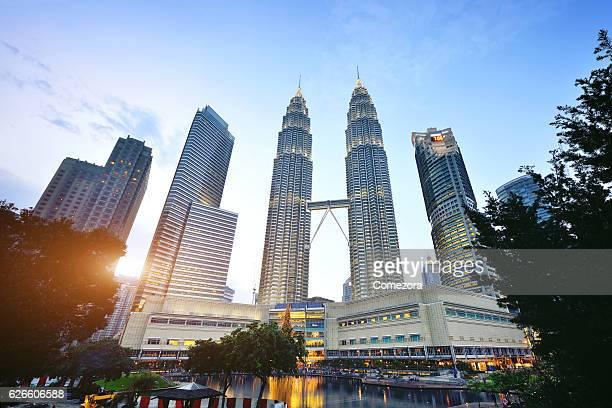 Petronas Towers and Skyscrapers, Kuala Lumpur, Malaysia