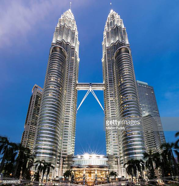 Petronas Towers at dusk