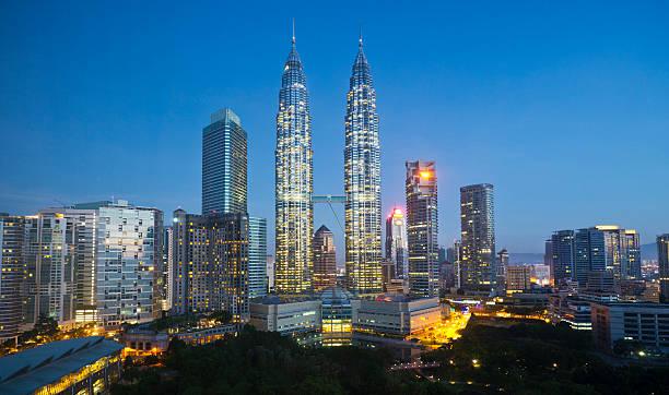 Petronas Twin Towers and Kuala Lumpar skyline