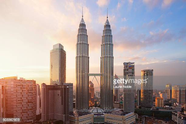 Petronas Twin Towers at sunset