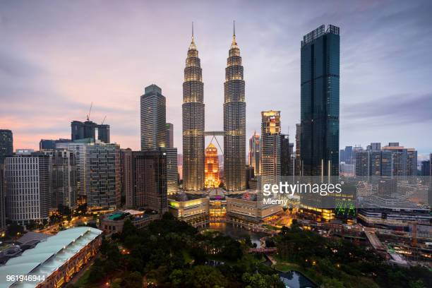 Petronas Twin Towers at Twilight Kuala Lumpur