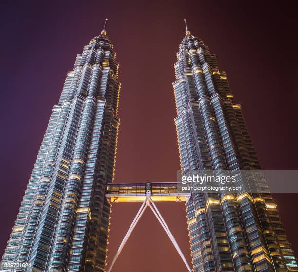Petronas twin towers in Malaysia at night