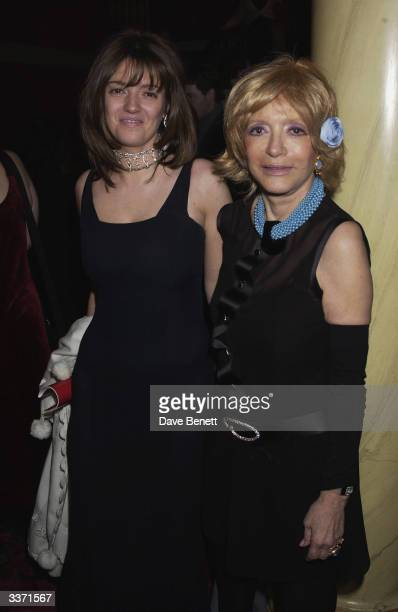 Petronella Wyatt with her mother Lady Wyatt at the UK Neurofibromatosis Association 20th Anniversary Gala Concert held at the Theatre Royal on 12th...