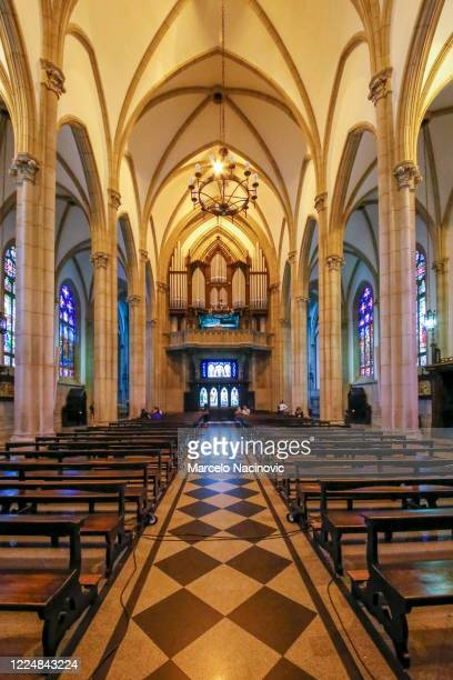 petropolis cathedral - marcelo nacinovic stock pictures, royalty-free photos & images