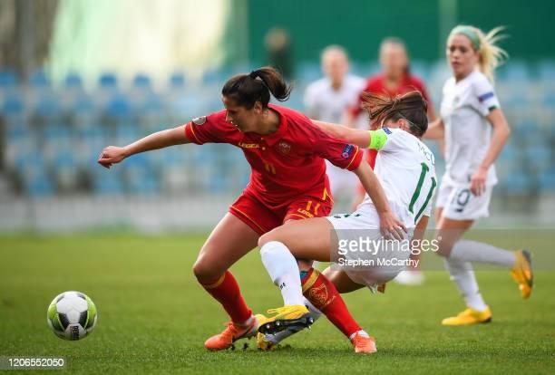 Petrovac Montenegro 11 March 2020 Armisa Kuc of Montenegro in action against Katie McCabe of Republic of Ireland during the UEFA Women's 2021...