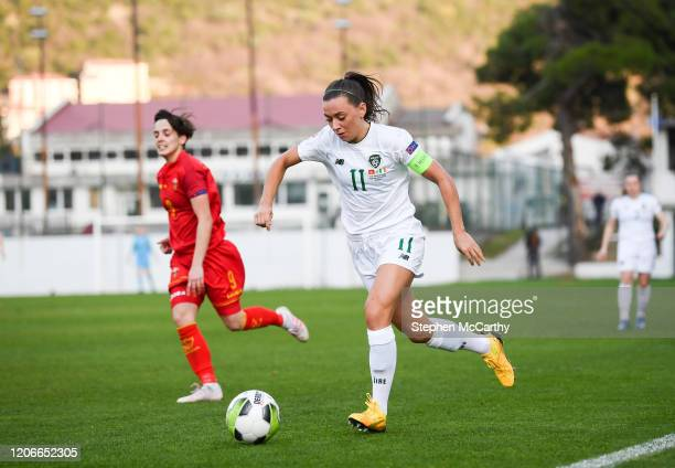 Petrovac Montenegro 11 March 2020 Katie McCabe of Republic of Ireland during the UEFA Women's 2021 European Championships Qualifier match between...