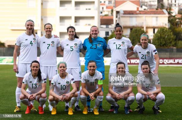 Petrovac Montenegro 11 March 2020 The Republic of Ireland team top row from left Louise Quinn Diane Caldwell Niamh Fahey Courtney Brosnan Rianna...