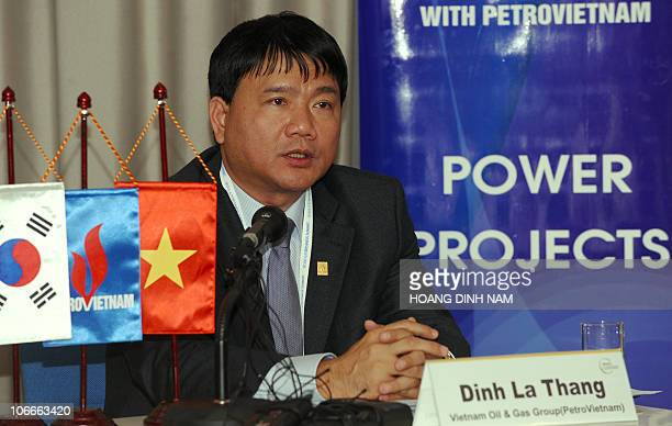 PetroVietnam Chairman Dinh La Thang speaks during an open interview held on the sidelines of the G20 Summit in Seoul on November 10 2010 World...