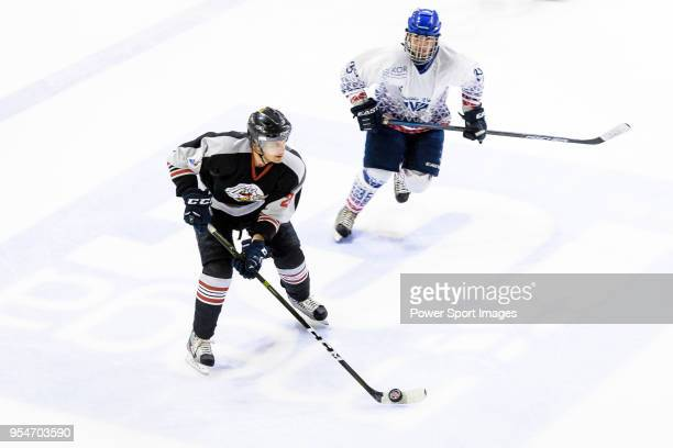 Petter Berglund of Nordic Vikings in action during the Mega Ice Hockey 5s match between Nordic Vikings and Flying French on May 04 2018 in Hong Kong...