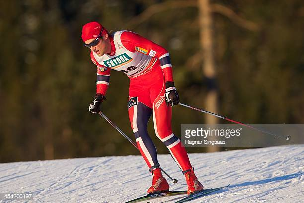 Petter Northug jr of Norway competes during the FIS CrossCountry World Cup Men's 15km Classic on December 7 2013 in Lillehammer Norway