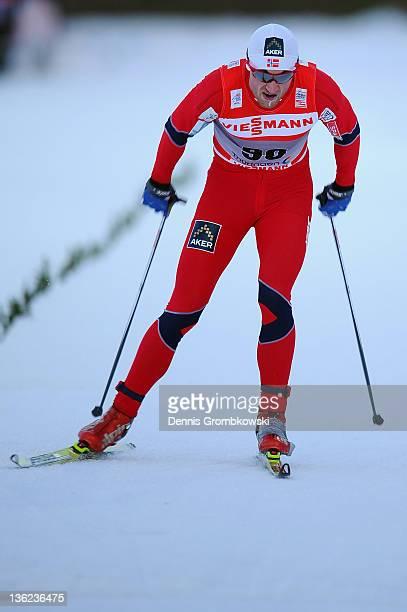 Petter Northug Jr of Norway competes in the FIS Tour de Ski Oberhof Men's Prolouge at DKB Ski Arena on December 29 2011 in Oberhof Germany