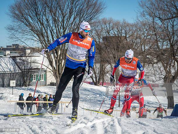Petter Northug of Norway and Finn Hagen Krogh of Norway during training Cross Country Sprint on February 29 2016 in GatineauQuebecCanada