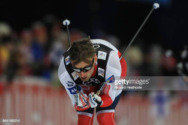 LAHTI FINLAND FEBRUARY Petter Northug of Norway competes in the Men's 16KM Cross Country Sprint first quarter final during the FIS Nordic World Ski...