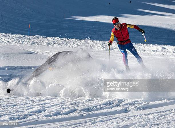 Petter Northug of Norway during private training session with team COOP on October 26 2015 in Val Senales Italy