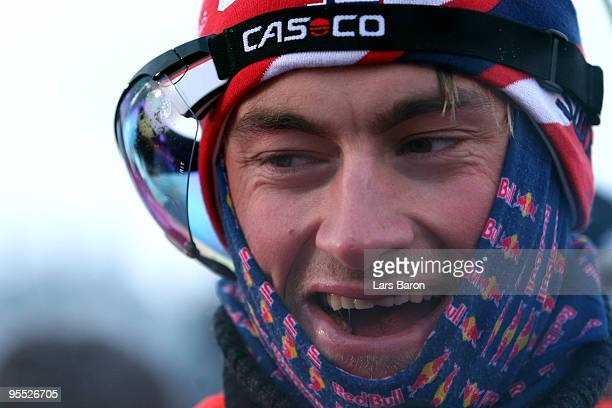 Petter Northug of Norway smiles after winning the Men's 15km Pursuit of the FIS Tour De Ski on January 2 2010 in Oberhof Germany