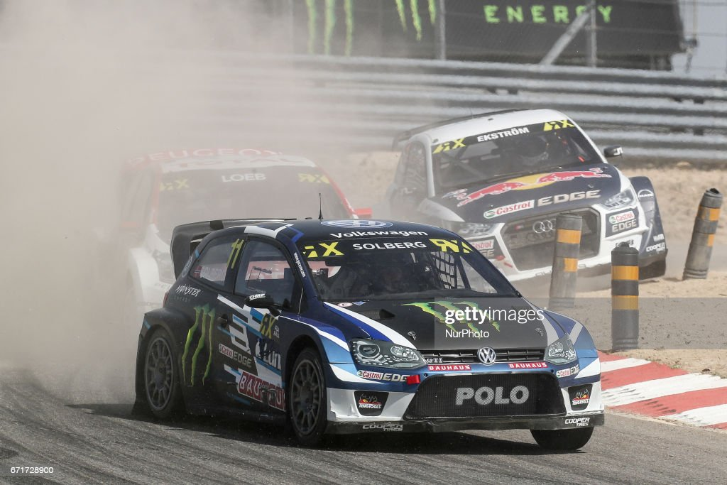 Petter SOLBERG (NOR) in Volkswagen Polo GTI of PSRX Volkswagen Sweden in action during the World RX of Portugal 2017, at Montalegre International Circuit in Portugal on April 22, 2017.
