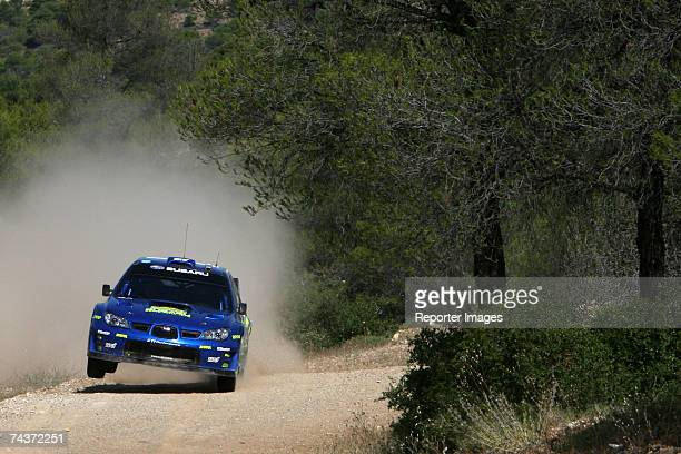Petter Solberg of Norway and Philip Mills of Great Britain drive their Subaru Impreza WRC 2006 A/8 the first leg of the BP Ultimate Acropolis Rally...