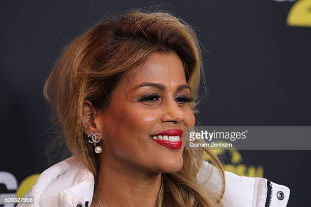 Pettifleur Berenger arrives ahead of the Ride Along 2 Australian Premiere at Hoyts Melbourne Central on February 10, 2016 in Melbourne, Australia.