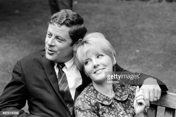 Petula Clark and husband Claude Wolff at Embankment Gardens Victoria She is in London to open in the Savoy Caberet Show 6th June 1966