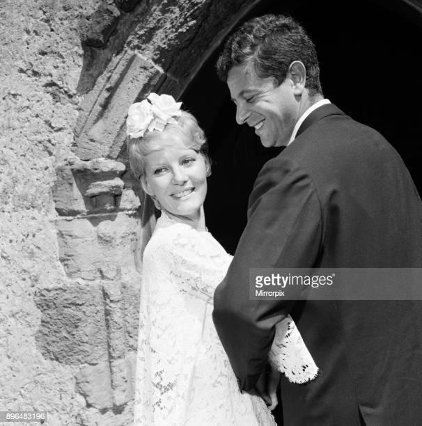 Petula Clark marries Claude Wolff st St Peter's Church in Lodsworth Sussex It was their second wedding after a civil ceremony in France 25th June 1961